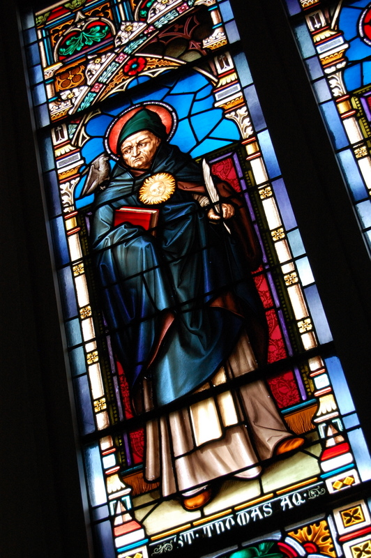 There are 16 beautifully vibrant stained-glass windows.