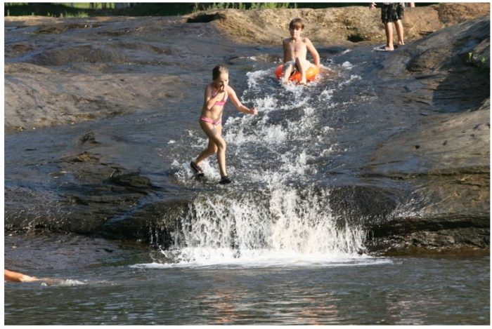 6. The highlight of the campground is Falls of Blaine Creek.