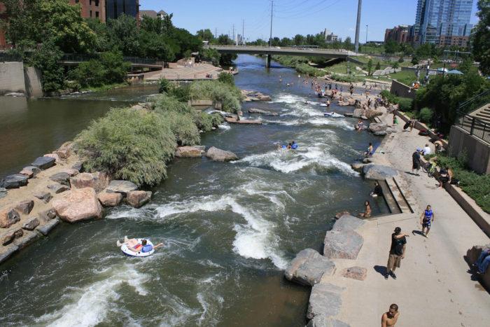 4. Tube, kayak, or take a dip at Confluence Park.