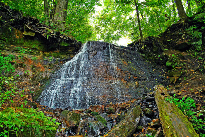 On the Wisconsin side, you'll find beautiful Silverbrook Falls.