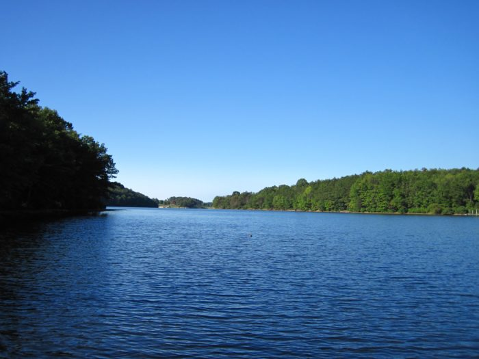 Maryland's Rocky Gap State Park is home to the gloriously blue Lake Habeeb.