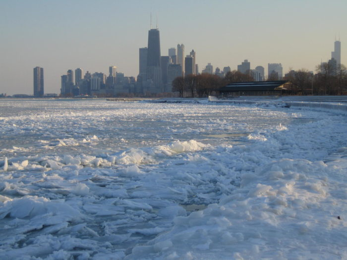 Lake Michigan will likely be full of ice chunks all winter…