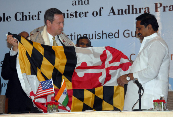 7. Give the flag to a dignitary from another country.