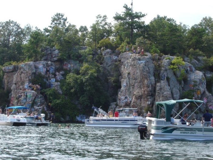 And Chimney Rock, a popular rock jumping spot, is only a short boat ride away.