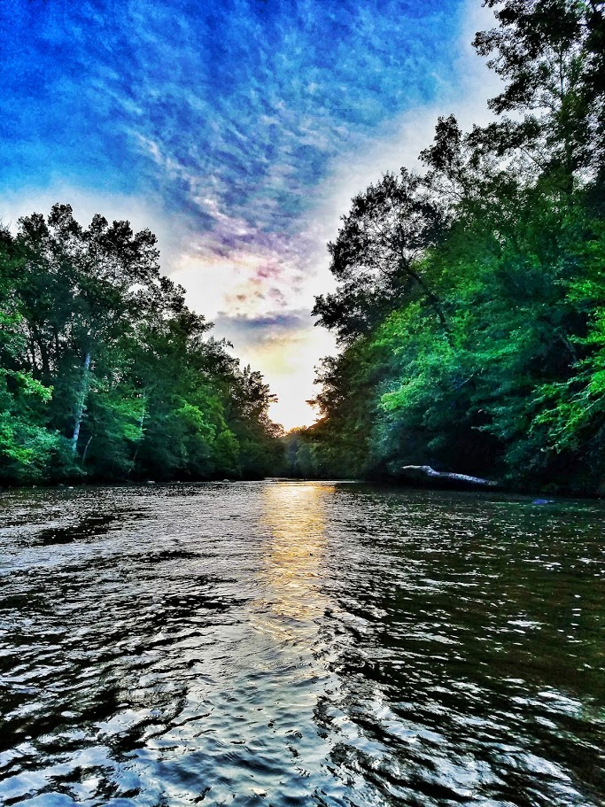 7-17-16 Sunset on Uwharrie River NC