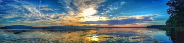 7-30-16 Sunrise Paddle - Badin Lake NC-Pano
