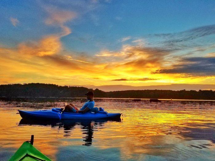 7-30 Sunrise Paddle - Badin Lake NC-8