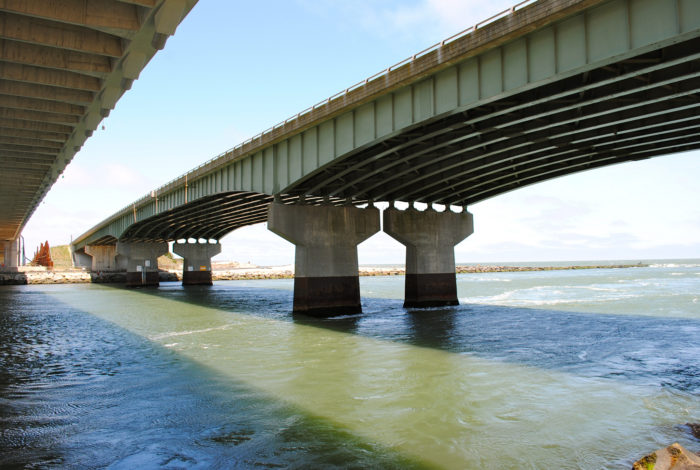 In 1965, a Steel Girder Bridge was completed over the Indian River Inlet