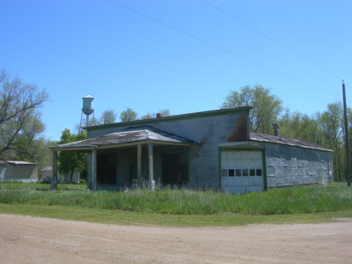 5. Can you believe this once was a store? Now it just sits empty in Virgil, South Dakota, an equally empty town.