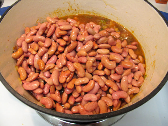 1) Serve up red beans and rice—with the consistency of soup.