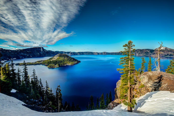 11. See the vibrant blue water of the deepest lake in the country.