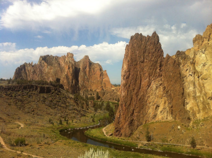 3. Go rock climbing at Smith Rock State Park.