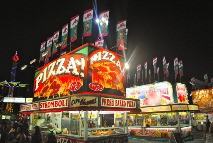 7. Eat a ton at the State Fair - after you ride the rides.