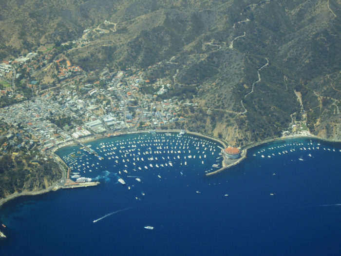 To get to Avalon on Catalina Island you can travel by helicopter, which sounds a little fancy for me. Or...