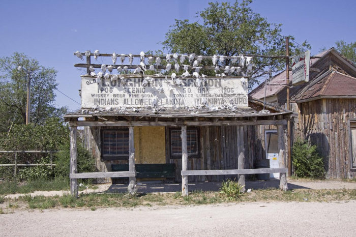 6. The exterior of this chilling, shell of a store is covered in skulls... talk about creepy.