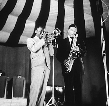17. Sonny Rollins and Miles Davis, Newport Jazz Festival, 1957
