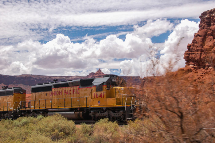 Union Pacific trains take the potash from the mine.