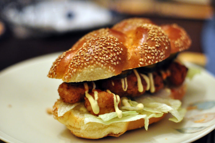 7) Serving po-boys not on French bread.