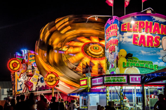 9. No summer nights beat nights at the fair. The warm air, the smell of sugar and fried foods, the sound of the concerts - it's our natural environment.