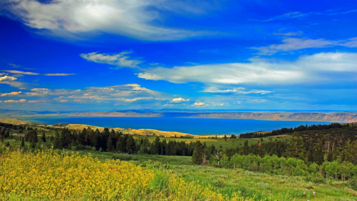 Glittering like a sapphire, Bear Lake in Southeast Idaho is a uniquely stunning lake that is shared by Idaho and Utah.