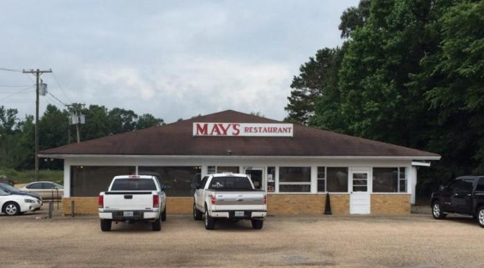 7. May's (130 Beulah Ave., Tylertown)