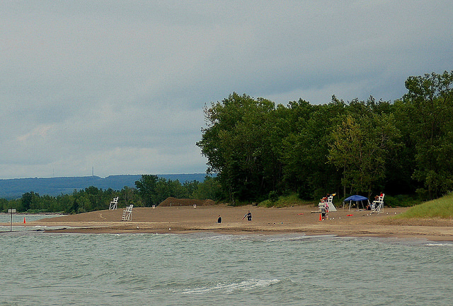 8. Soak up the sun on the beach at Presque Isle.