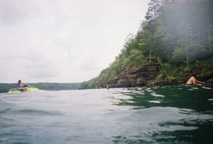 The lake is popular for all kinds of watersports.