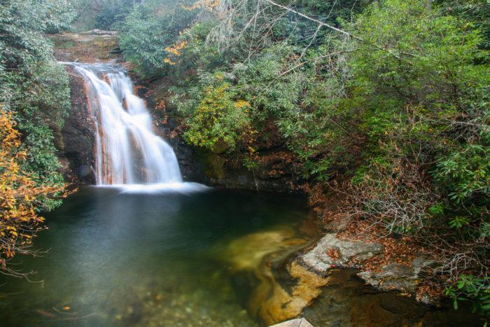 4. Blue Hole Falls, Hiawassee, GA
