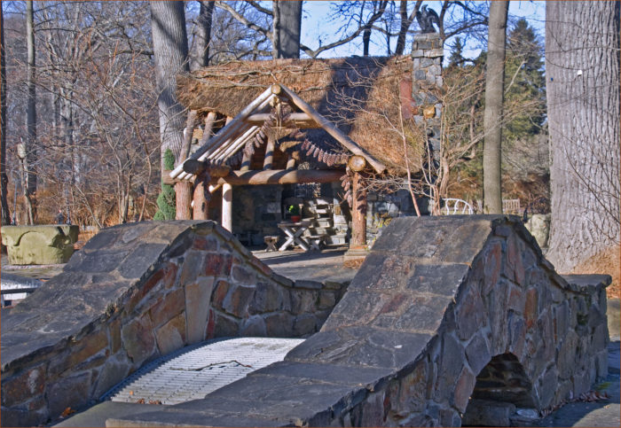 Next, walk on over to the Faerie Cottage, near the Frog Hollow Bridge.