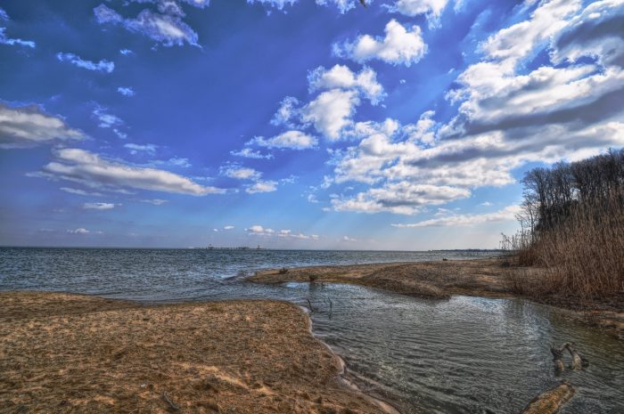 Finally, you'll be greeted with this beachy view of the Chesapeake Bay.