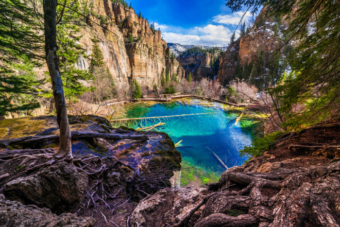 Located 7 miles east of Glenwood Springs, Hanging Lake is home to not only one of the most popular hikes in Colorado, but to one of the most pristine lakes in not only the state, but the entire country.