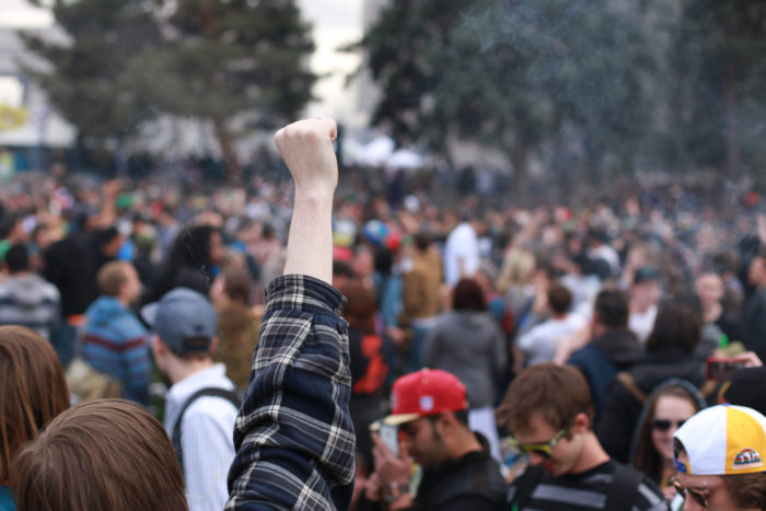 12. You accidentally ended up at the 420 Rally.
