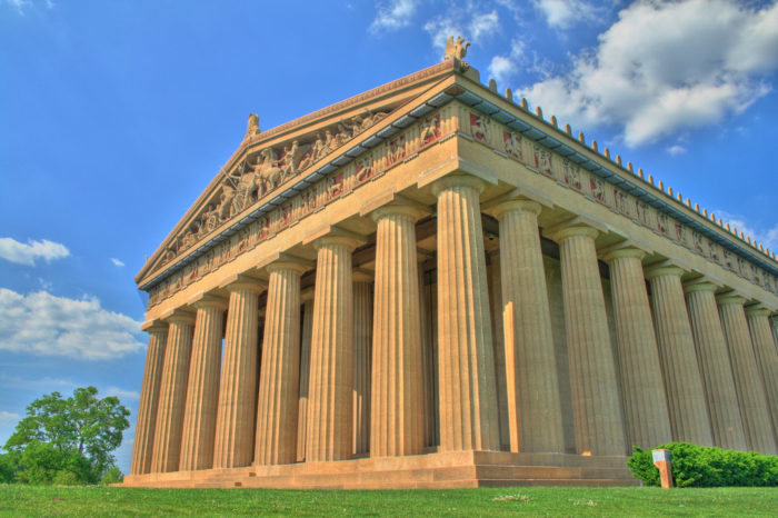 6. The replica of the Athens Parthenon sits dead center in Centennial Park, and makes for an iconic shot.