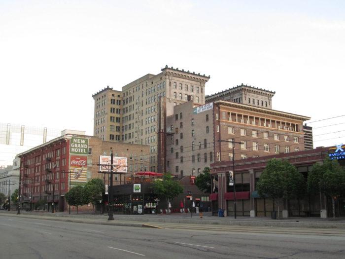 8. Driving through downtown Salt Lake City on a Sunday.