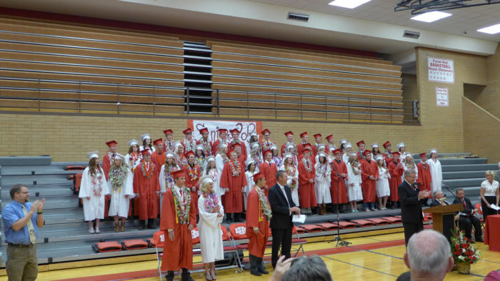 2. Your graduating class had less than 100 students.