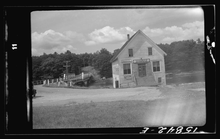 1. Here we see the post office and general store, Trevett, in the town of Boothbay.