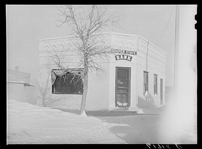2. This tiny building served as the local bank in Draper, South Dakota