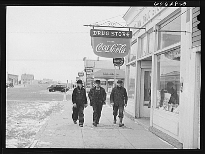 10. A local drug store was a must in any town, complete with a logo everyone still knows today