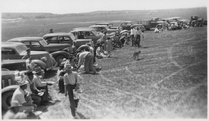 2. Gathering of cars for a celebration, 1941