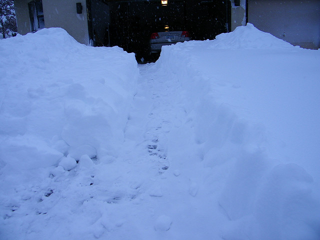 9. Early winter mornings required to...shovel snow, snow, and more snow.