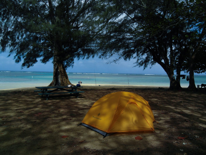 9.  Go camping on the beach.
