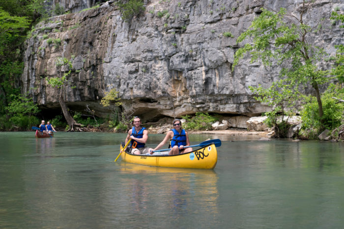 The bluffs you'll find in the upper Buffalo National River are gorgeous.