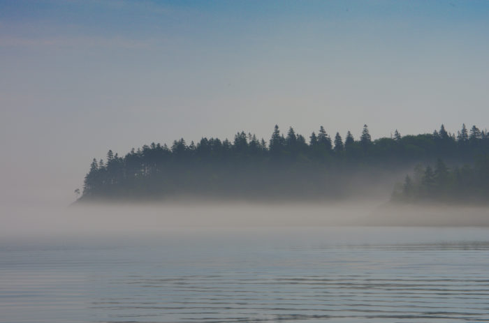 2. The water on a foggy, early morning.
