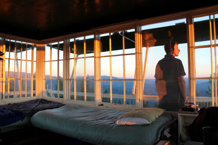Beds, books, and views are all provided.
