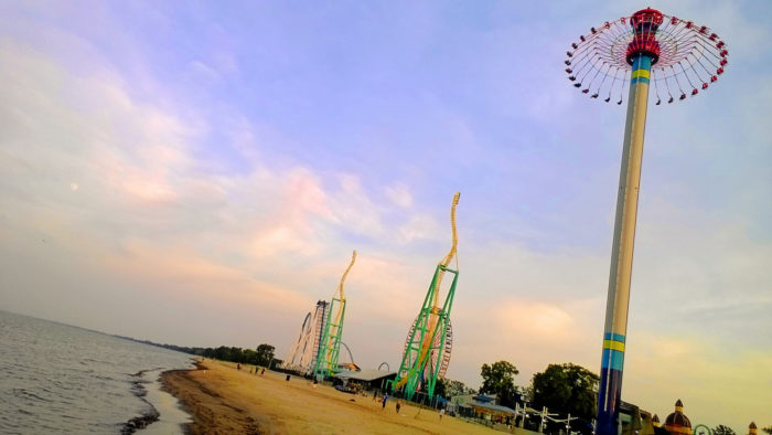A day at this beach with the colorful amusement park in the background truly is one of the happiest you'll ever have.
