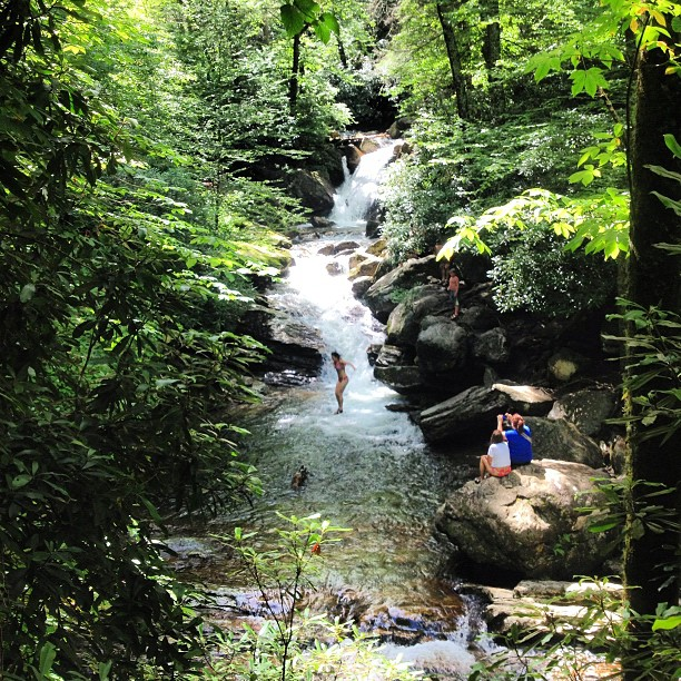 12. Jump off the rock or just simply wade in the waterfall swimming hole of Skinny Dip Falls.