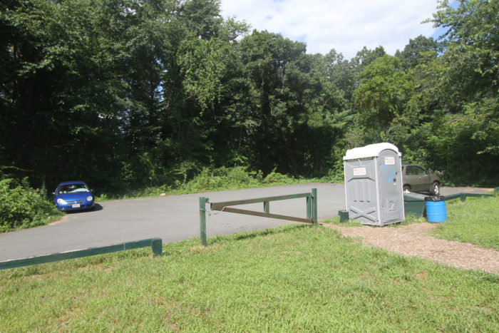 There's a small parking lot available for use, as well as a mobile restroom.