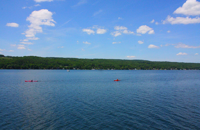 10. Grab your kayaks and head towards Keuka Lake, a favorite place to get out on the water in the Finger Lakes.