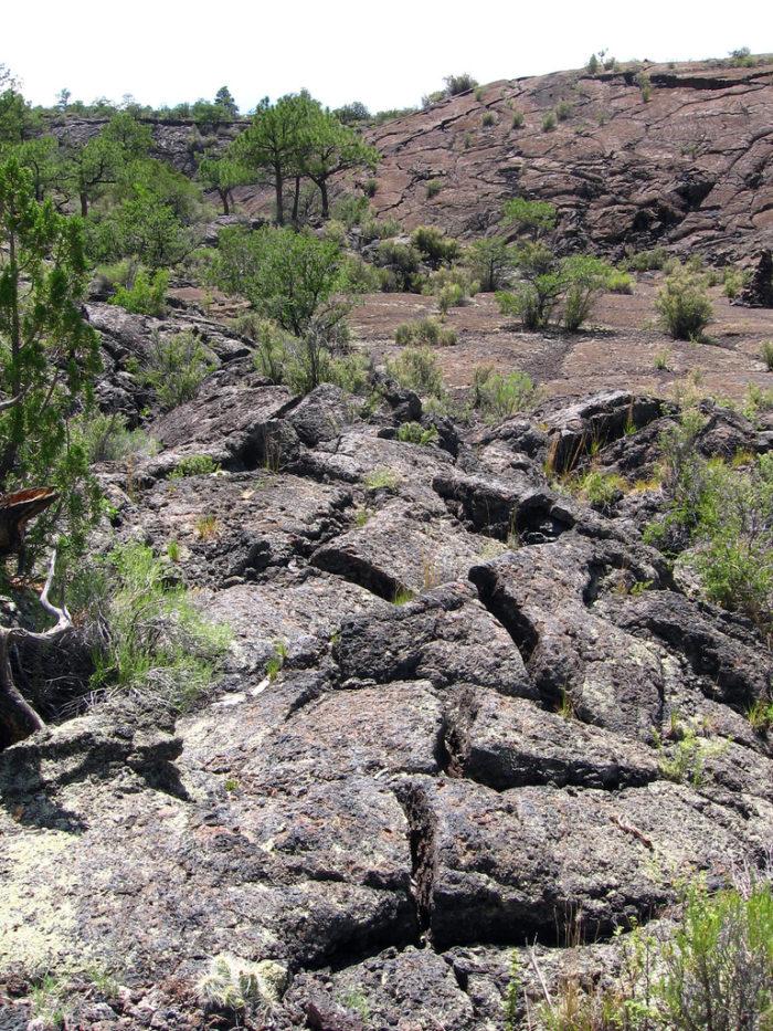 12. El Malpais National Monument, near Grants.