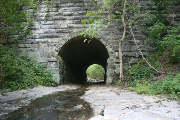 The list of Patapsco Valley State Park's features go on and on, including tunnels, railroad tracks, hiking trails, fishing, and camping. The park is incredibly diverse and may be one of the most unique places to explore in Maryland.